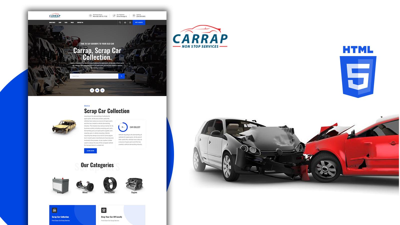 Carrap - Car Repair Html Template