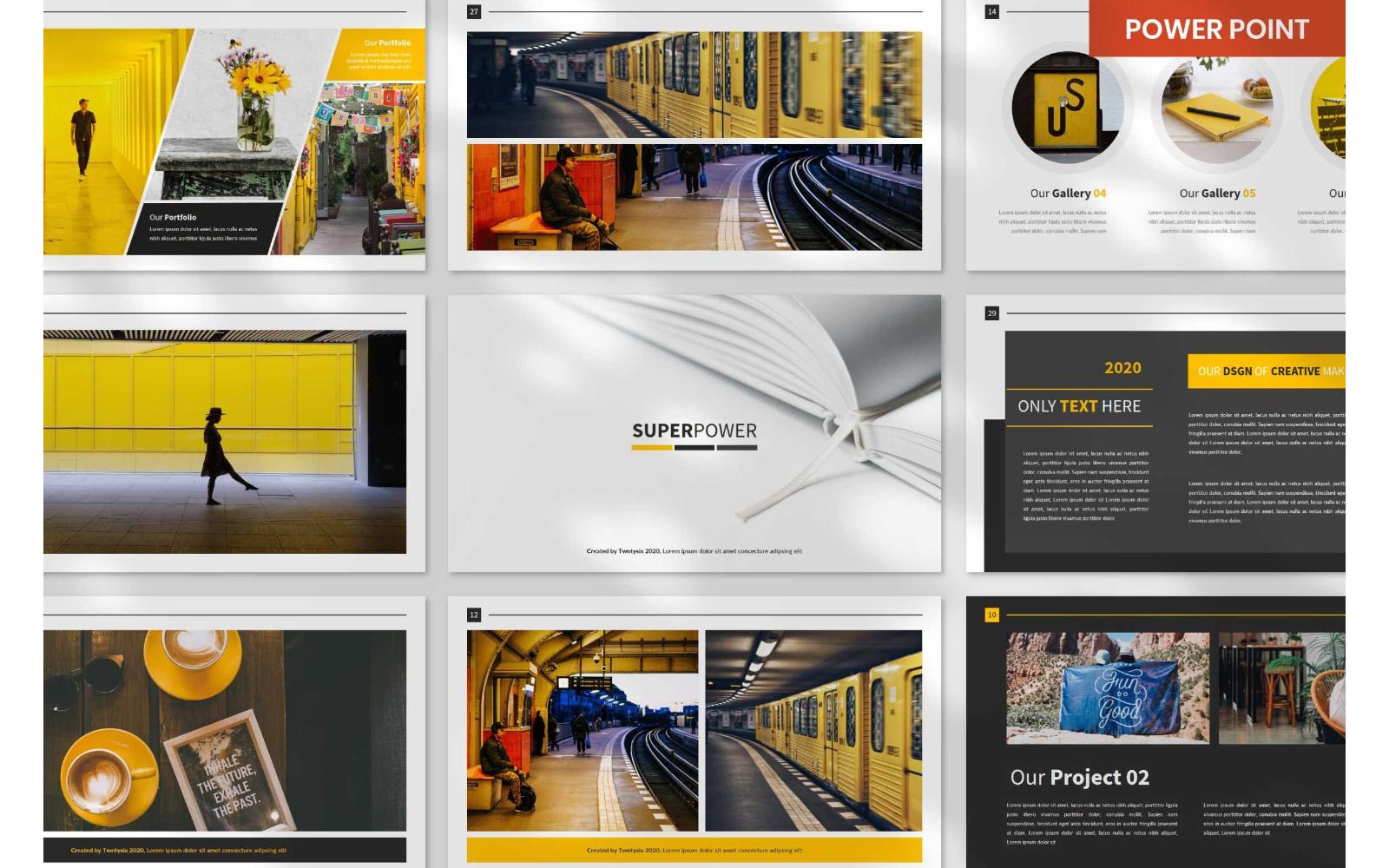 SuperPower Presentation Powerpoint Templates