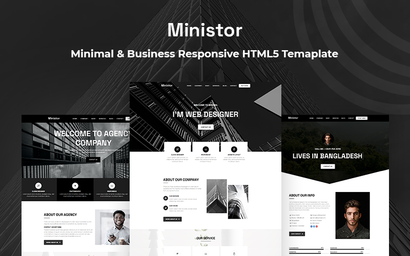 Ministor - Minimal & Business Responsive HTML5 Website Template
