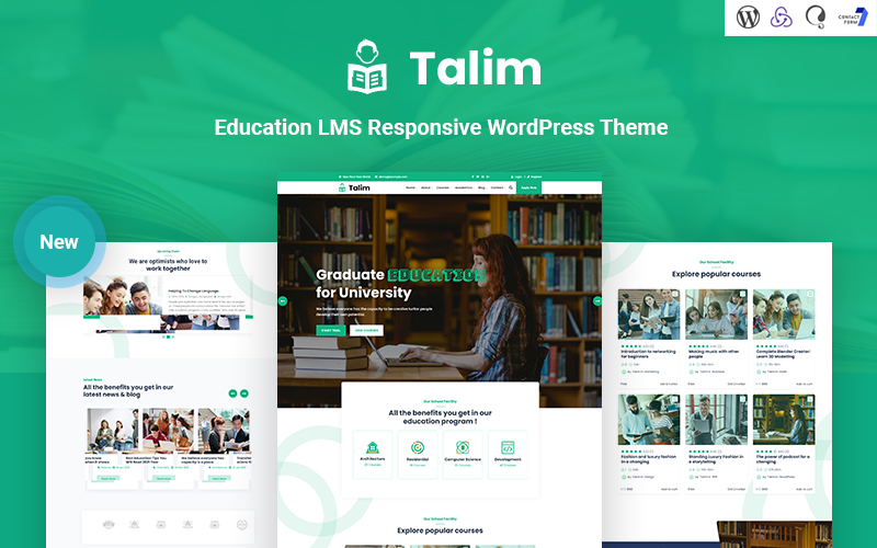 Talim - Education LMS Responsive WordPress Theme