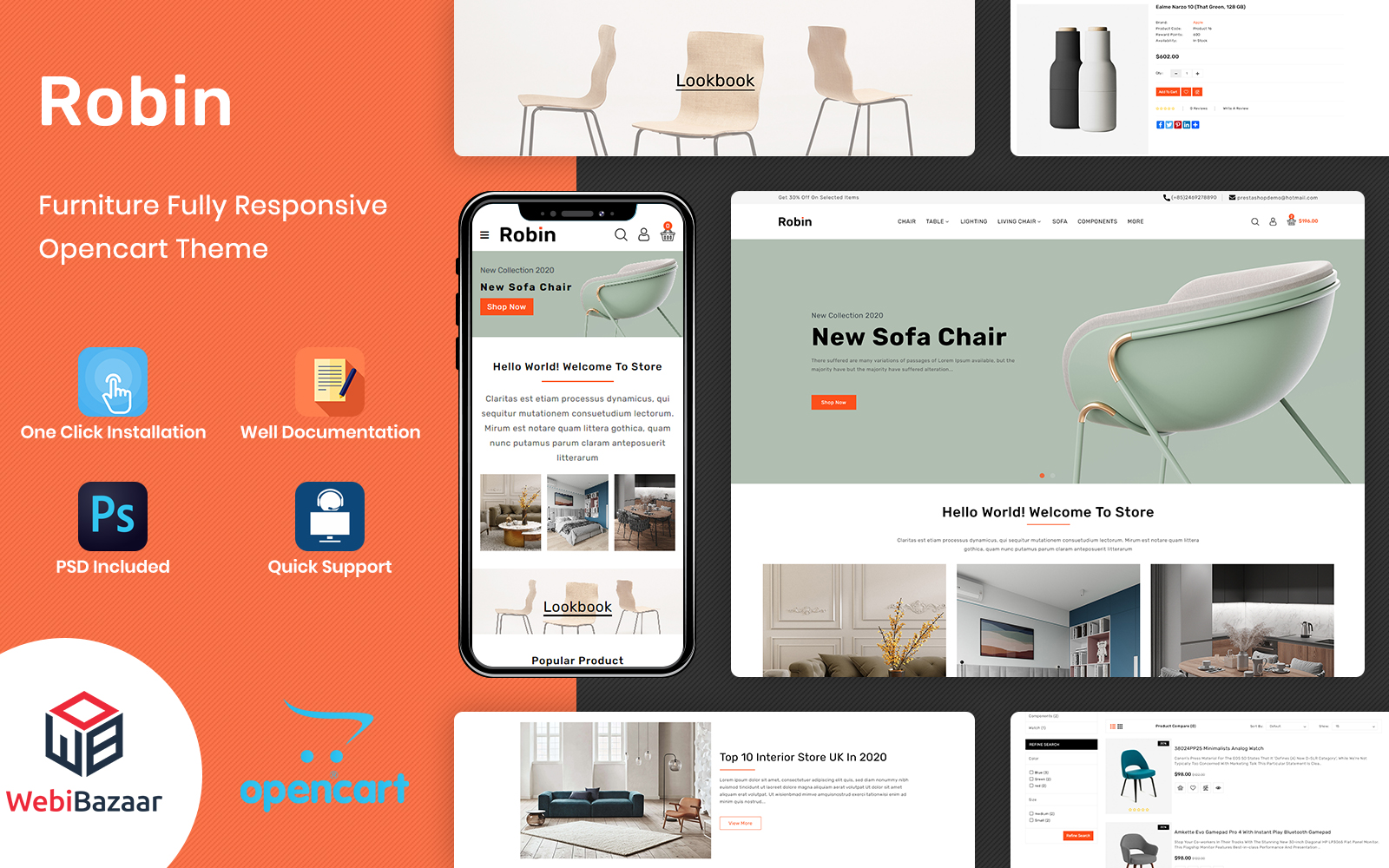 Robin - Electronics Store OpenCart Template