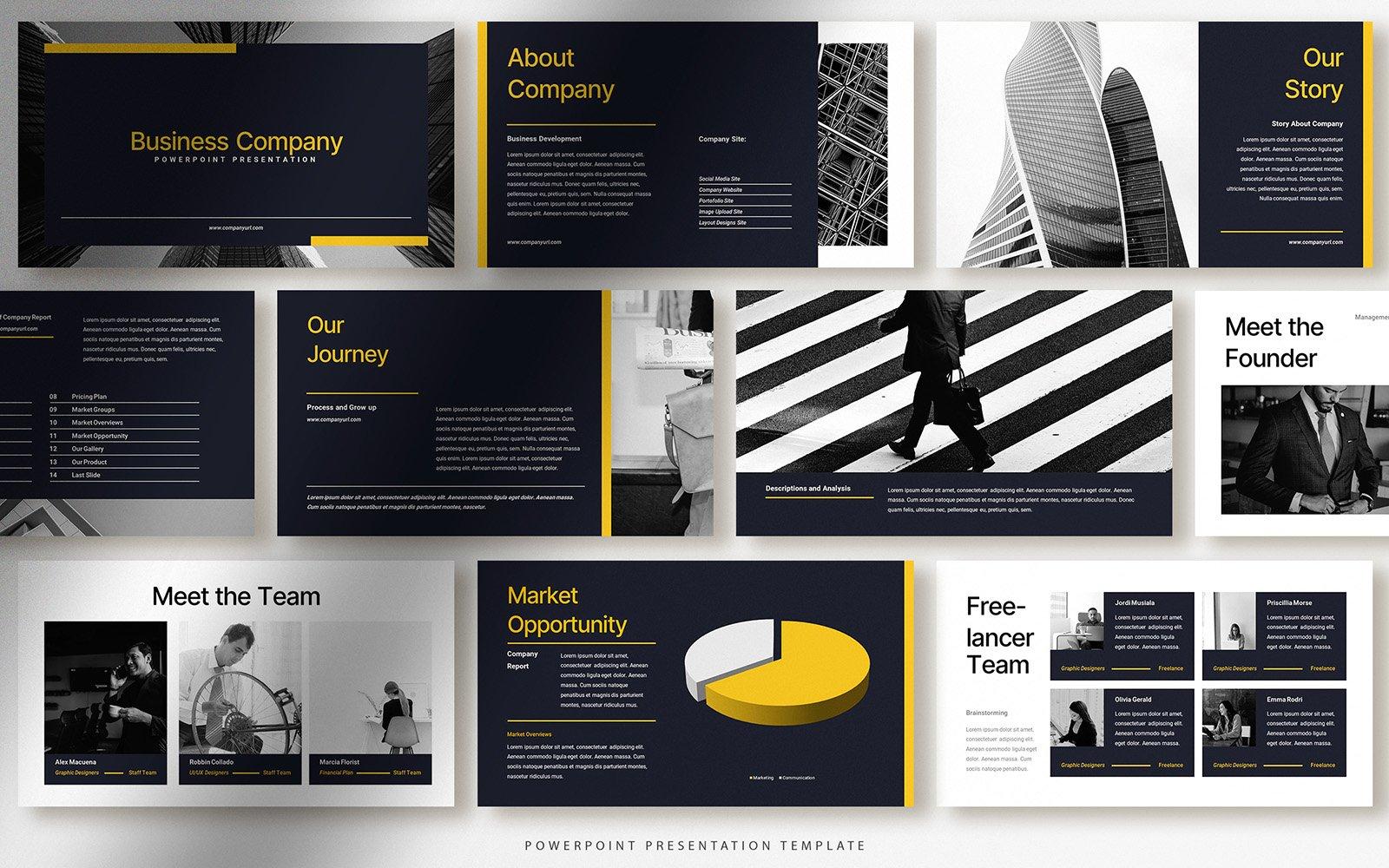 Bold Modern Business Company Presentation PowerPoint Template