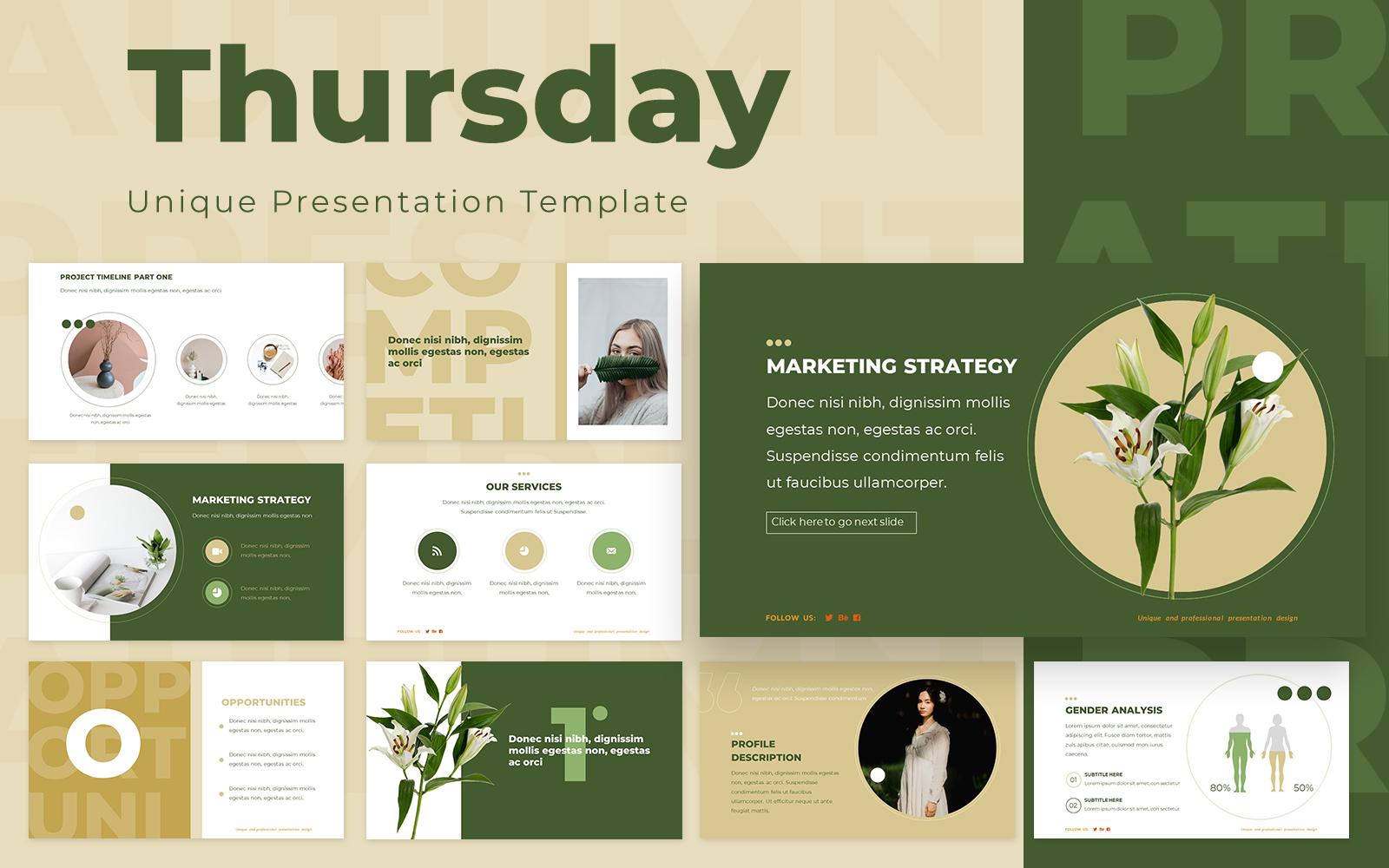 Thursday Powerpoint Presentation Template
