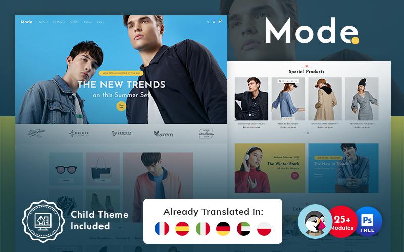 Mode - PrestaShop Theme for Online Fashion Store
