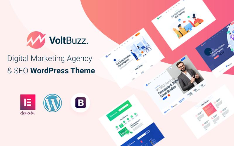 VoltBuzz - SEO and Digital Marketing Agency WordPress Theme