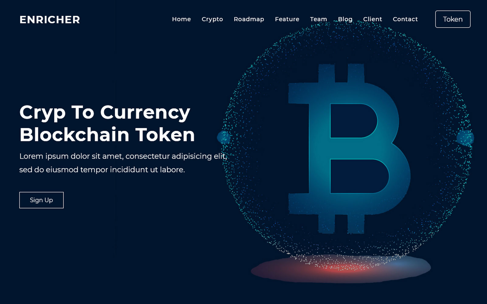Enricher - ICO Bitcoin & Cryptocurrency Landing Page Theme