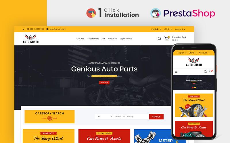 Auto Gusto Parts & Accessories Prestashop Theme