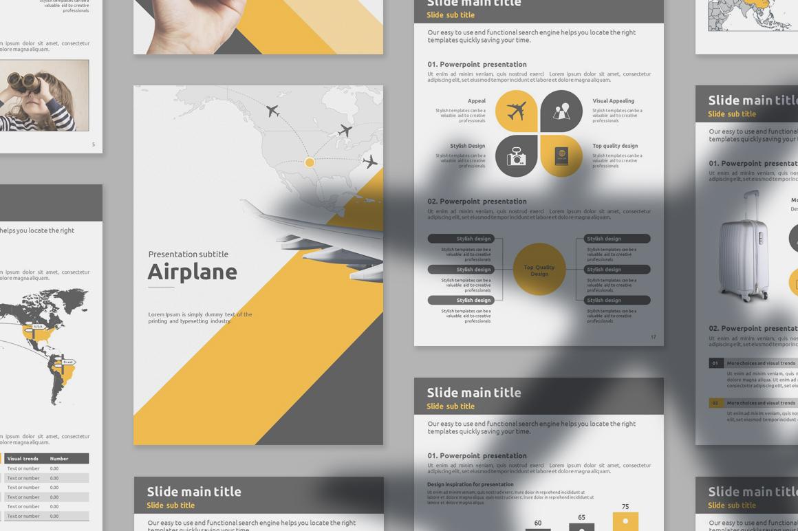 Flight Vertical PowerPoint Template