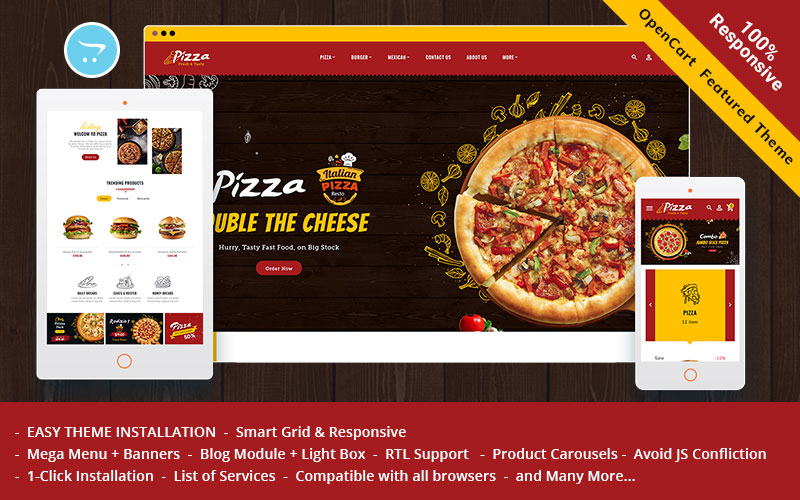 Pizza - OpenCart Theme for Online Pizza & Fast Food Store
