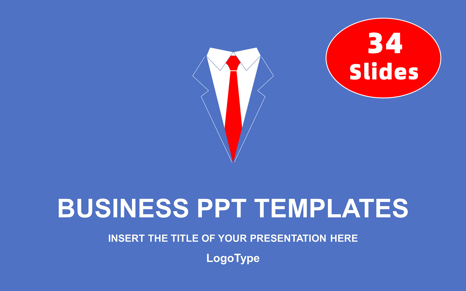 Businessman's Red Tie PowerPoint Template