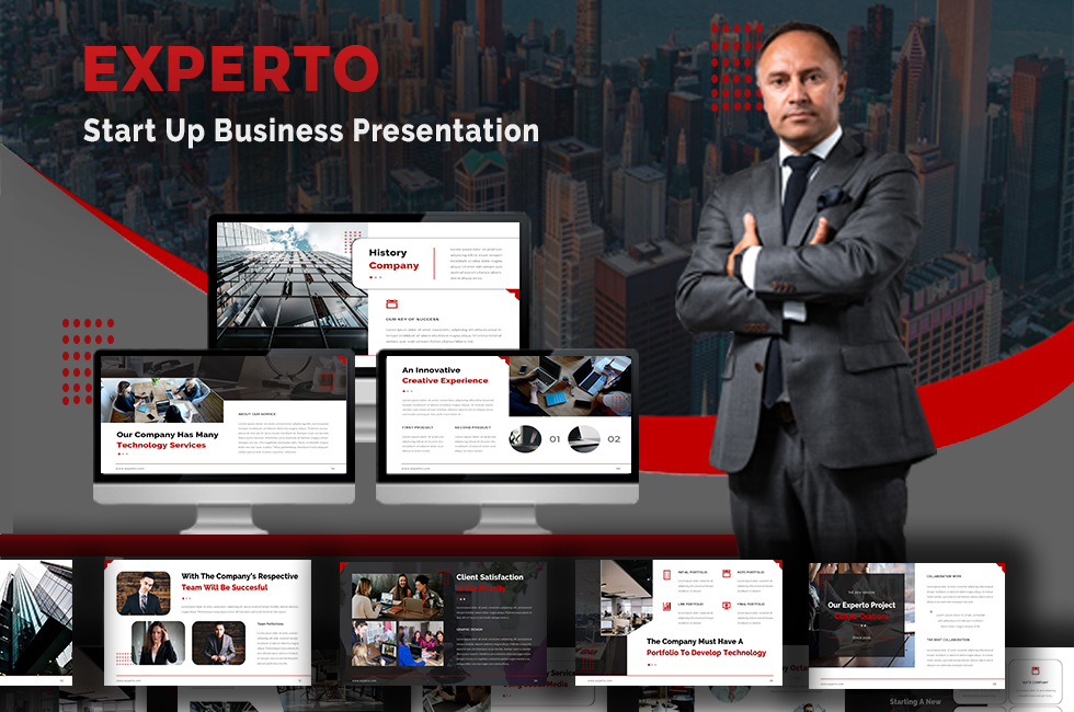 Experto - Start Up Business Powerpoint Template
