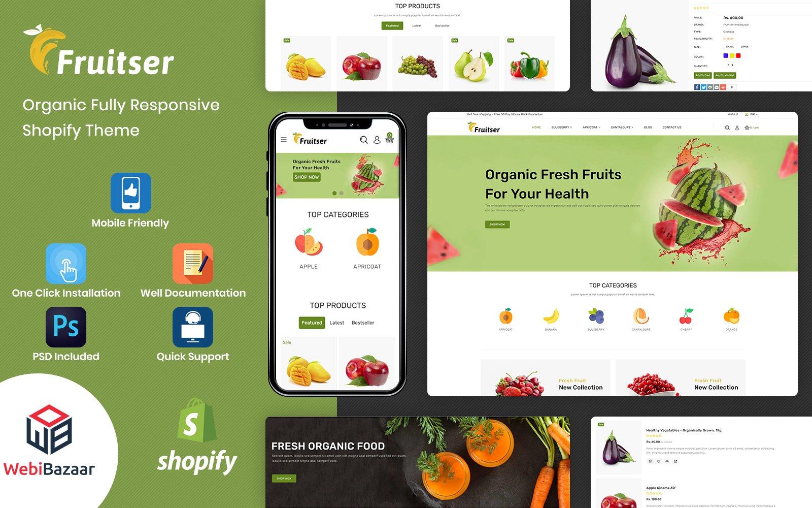 Fruitser - Organic & Grocery Store Shopify Theme