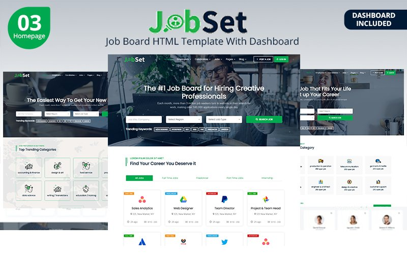 Jobset - Job Board HTML Website Template