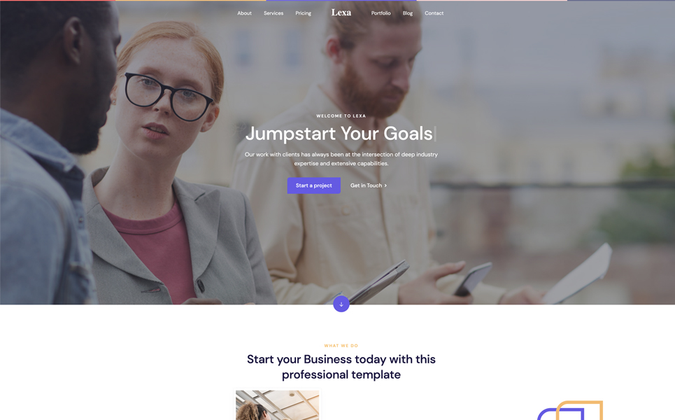 Lexa - Multipurpose Creative Landing Page Template