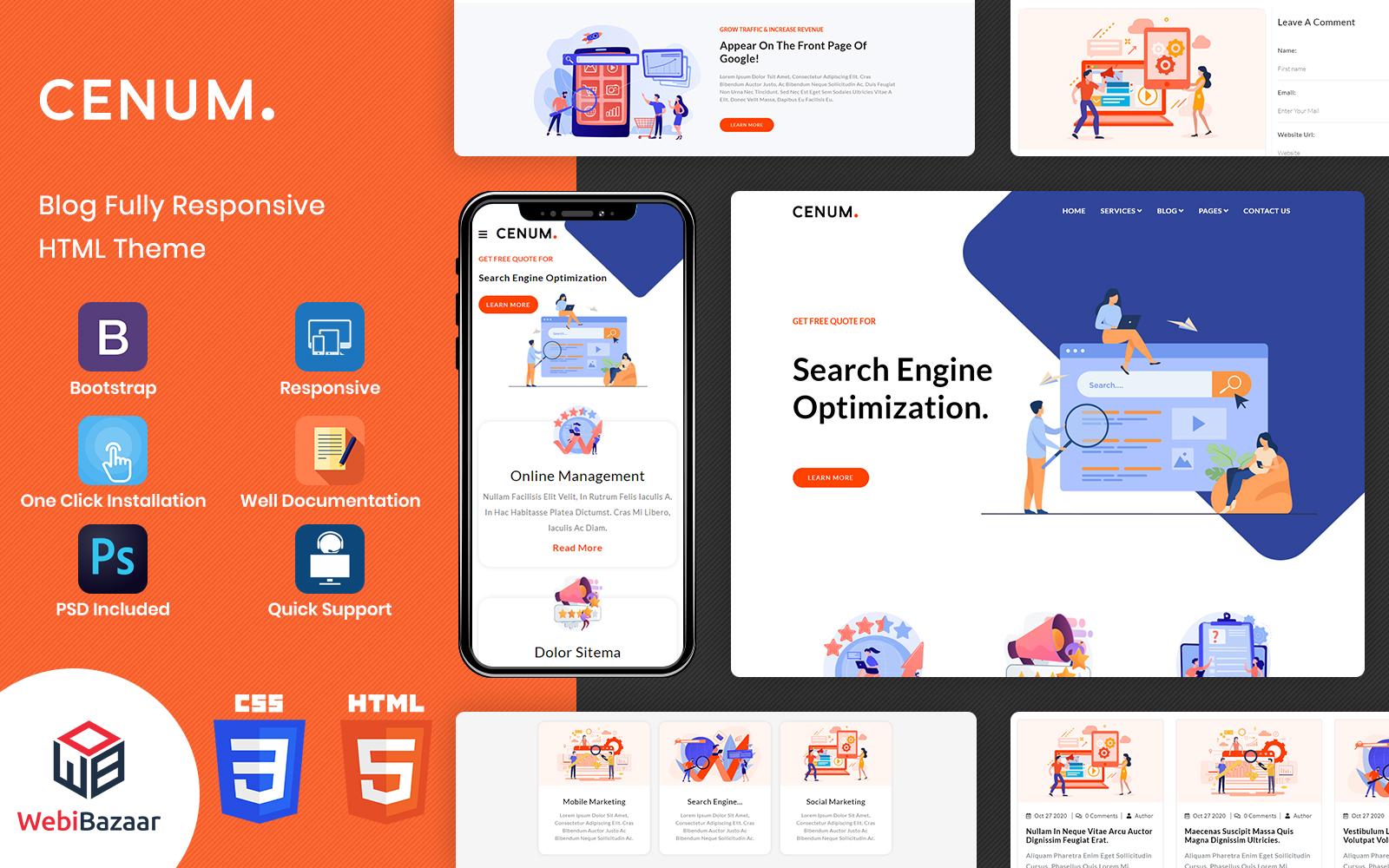 Cenum - Multipurpose HTML Website Template