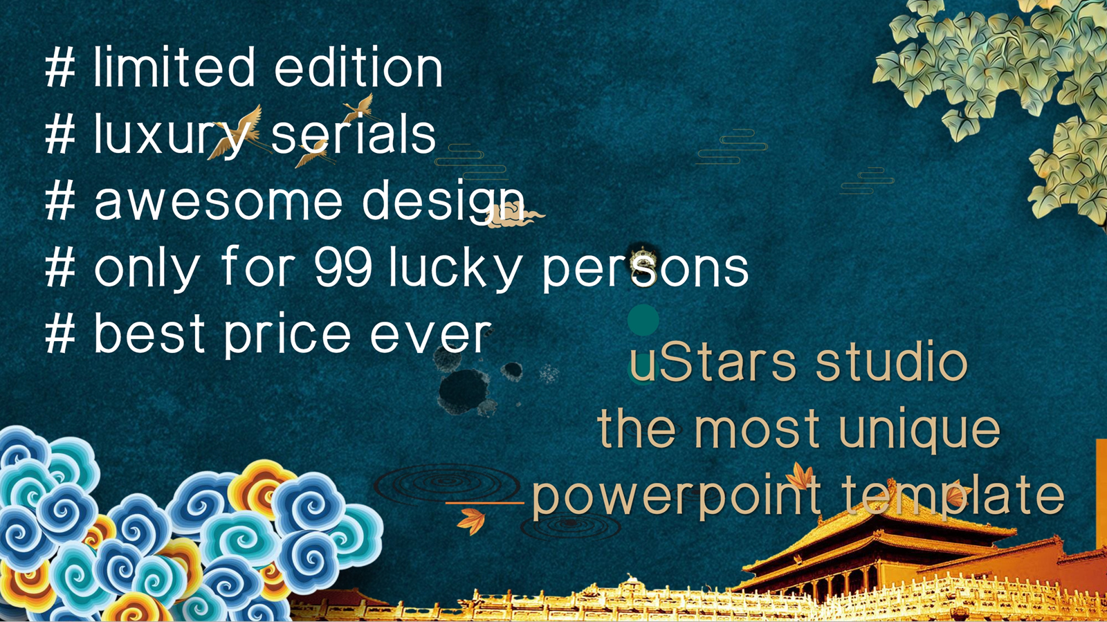 Unique Luxury Palace Powerpoint Template