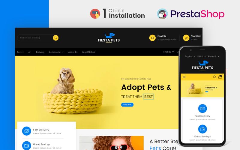 Fiesta Pet Store PrestaShop Theme