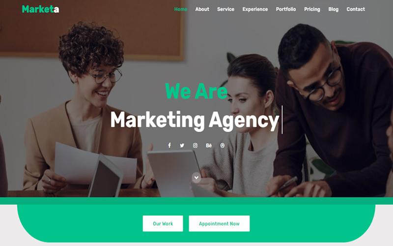 Marketa - Marketing Agency Landing Page Template