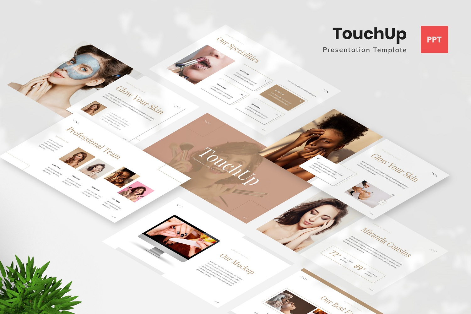 TouchUp - Beauty Care PowerPoint Template
