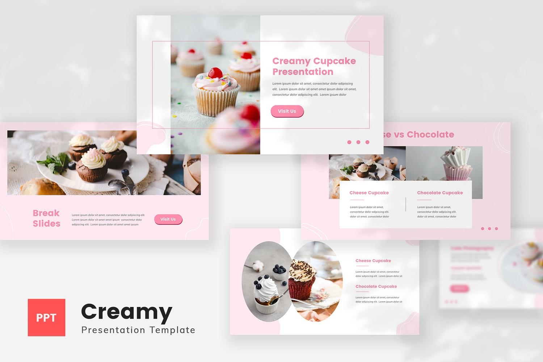 Creamy - Cupcake PowerPoint Template
