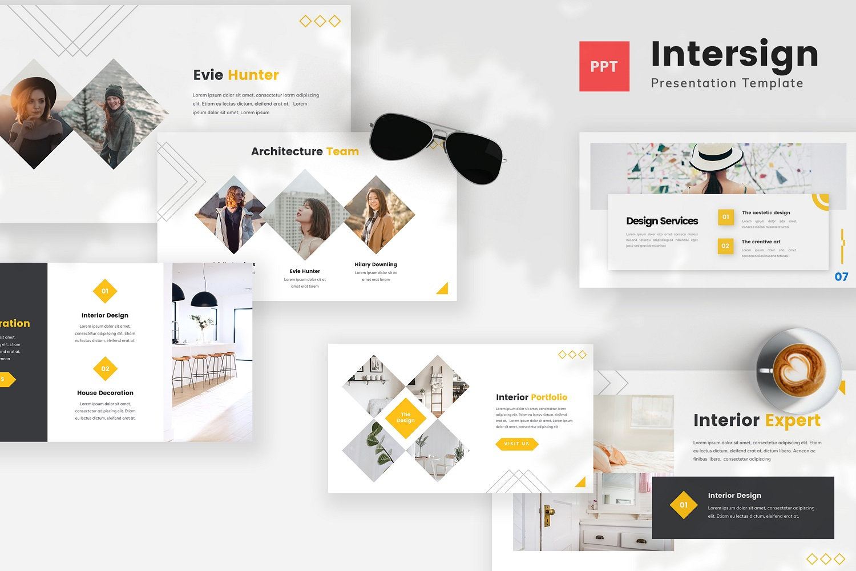 Intersign - Interior PowerPoint Template