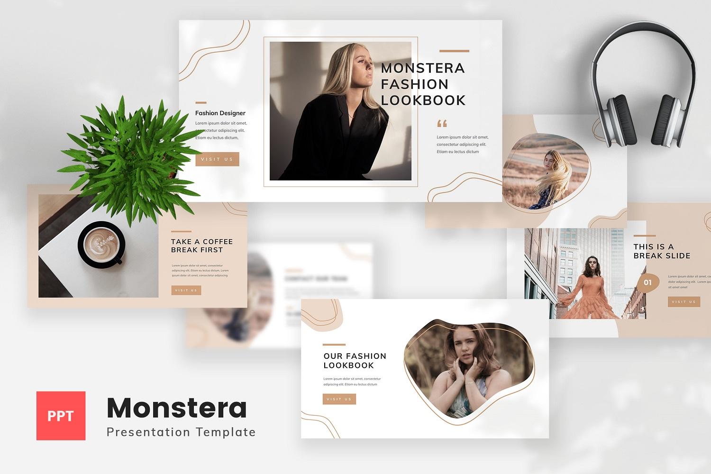 Monstera - Fashion Lookbook PowerPoint Template