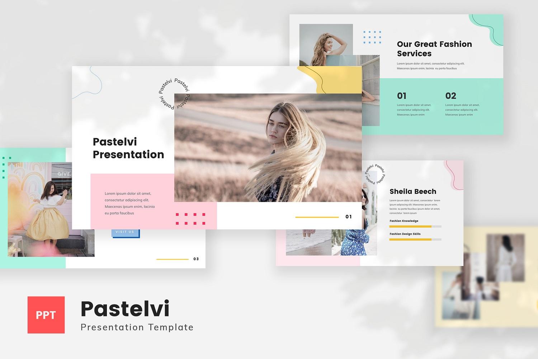 Pastelvi - Pastel Style Fashion PowerPoint Template