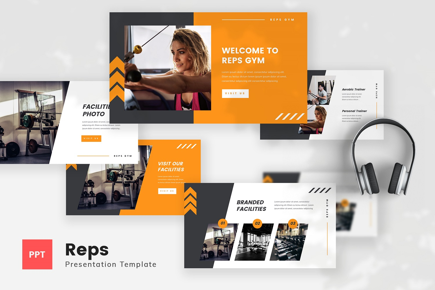 Reps - Gym PowerPoint Template