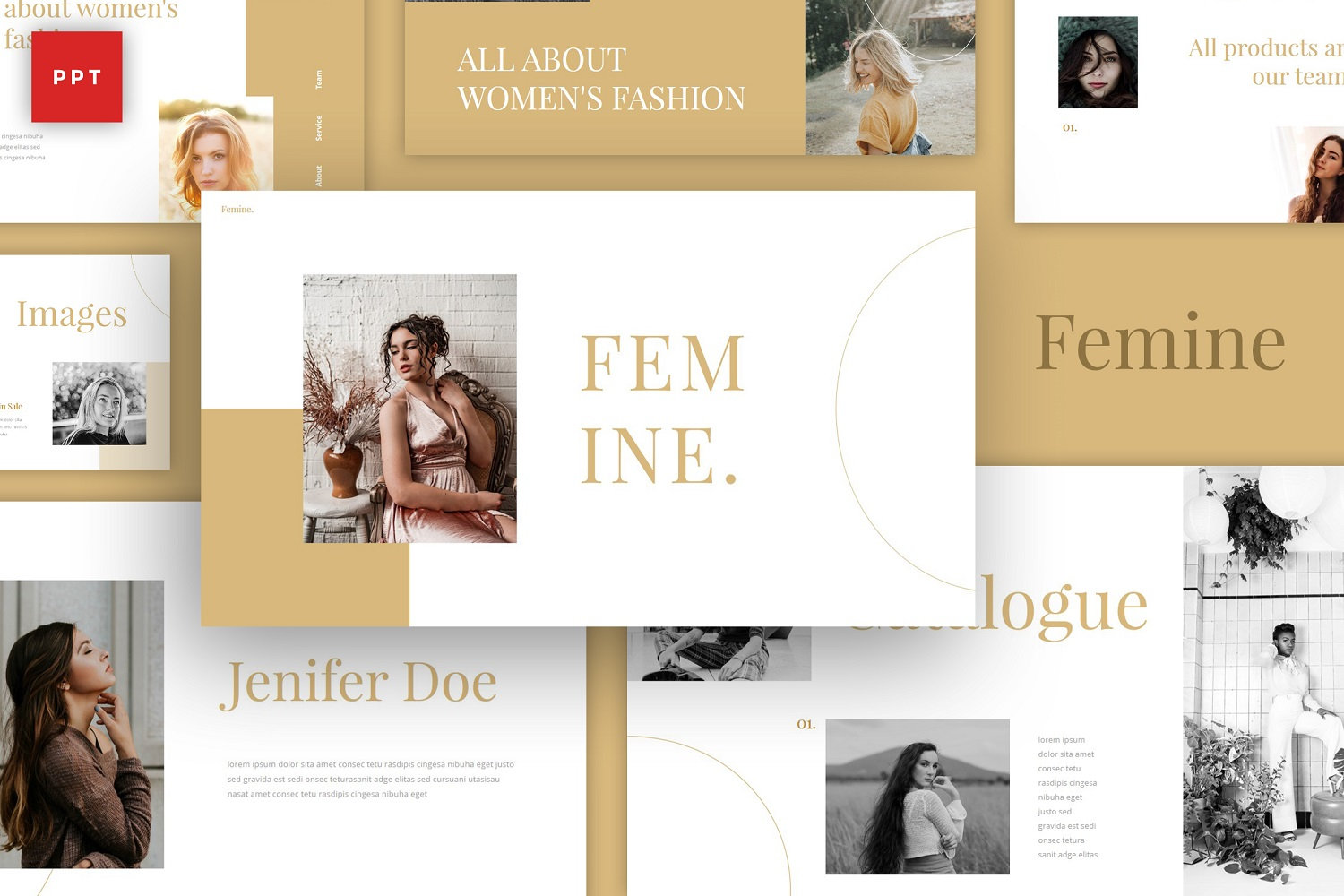 Femine - Chic Style PowerPoint Template