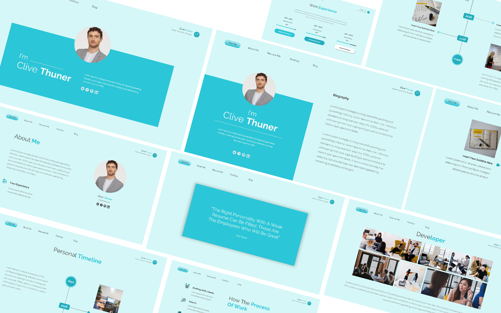 Resume Clive Thuner Powerpoint Template