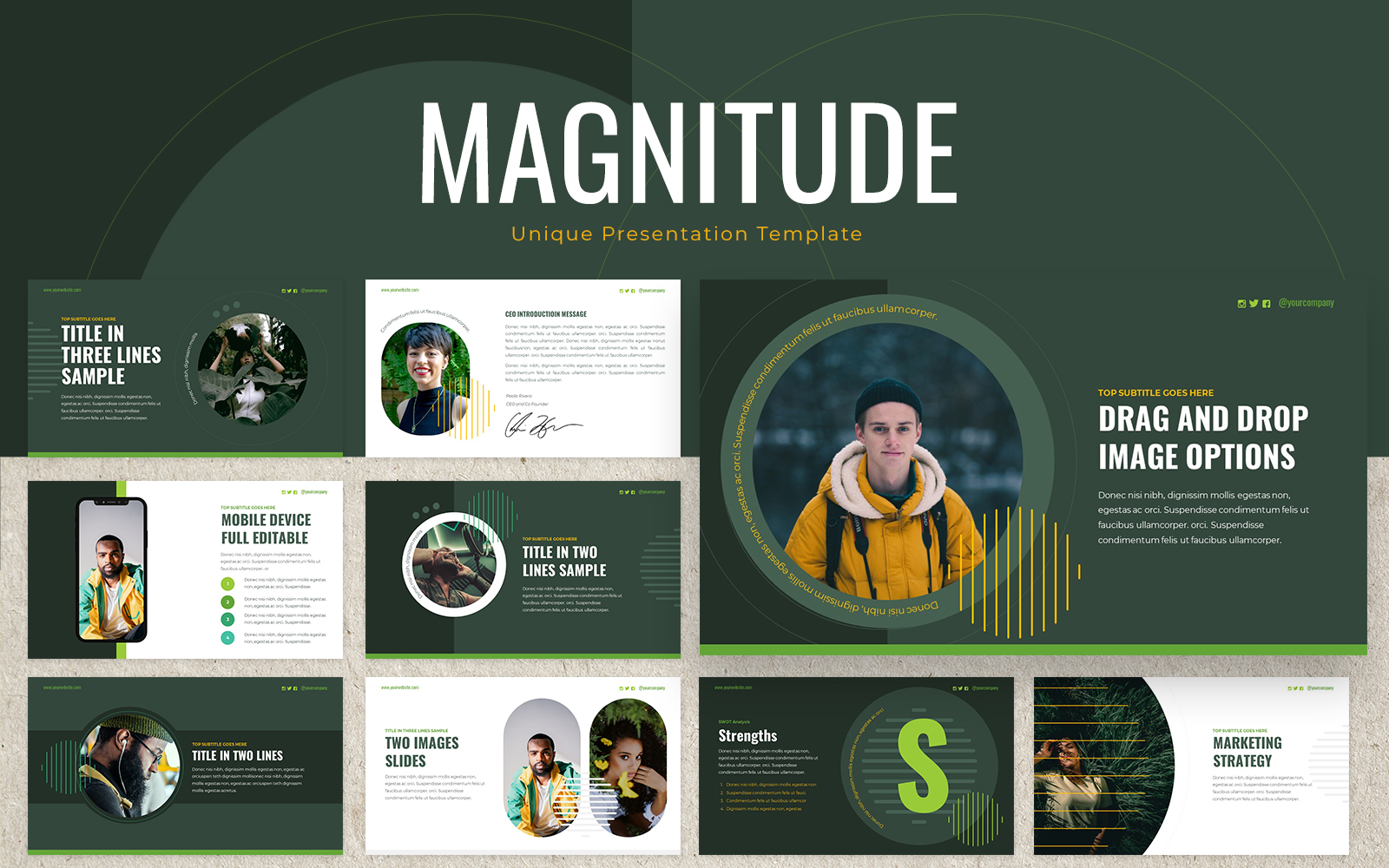 Magnitude Powerpoint Presentation Template