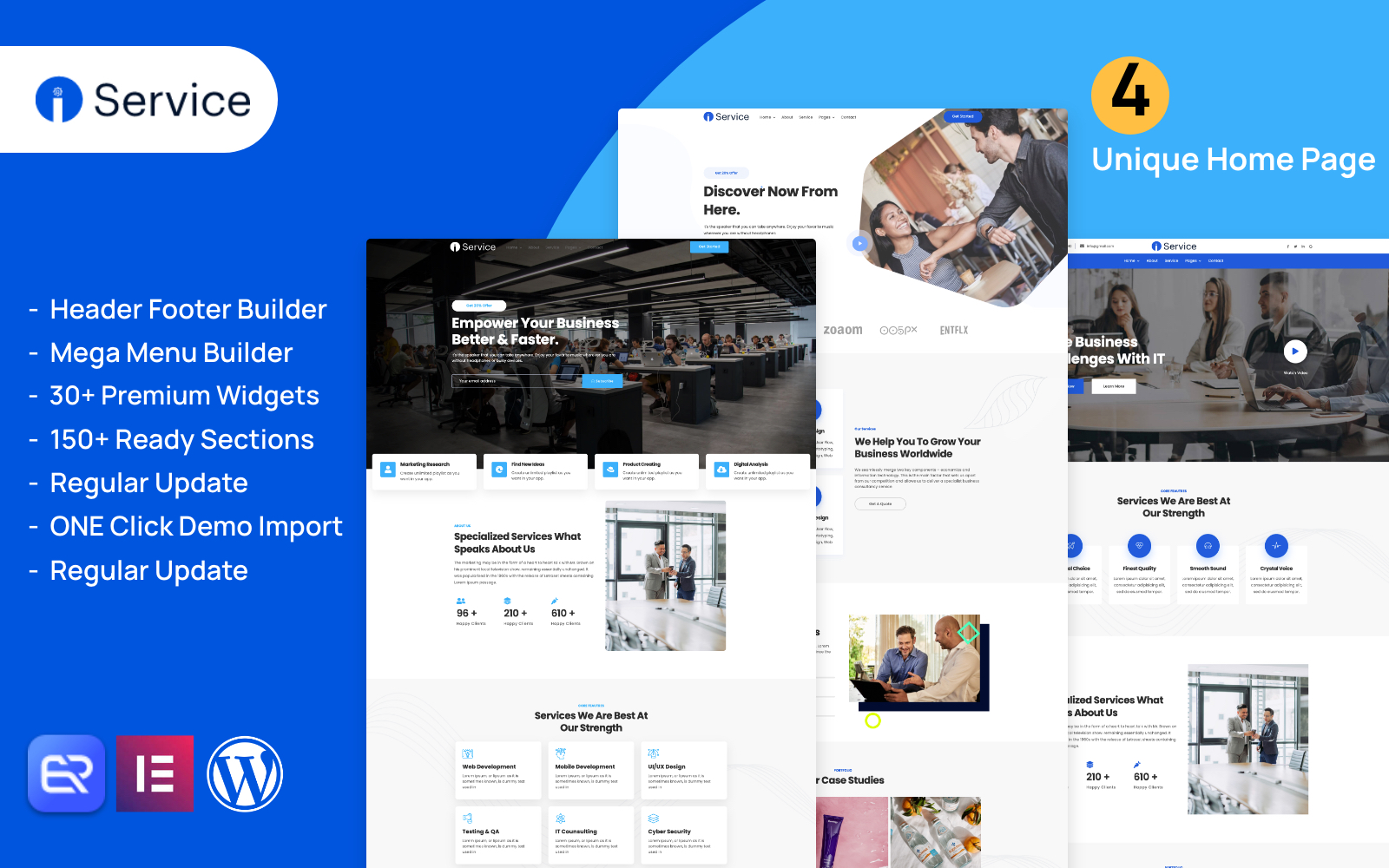 Iservice - it support and Software company WordPress theme