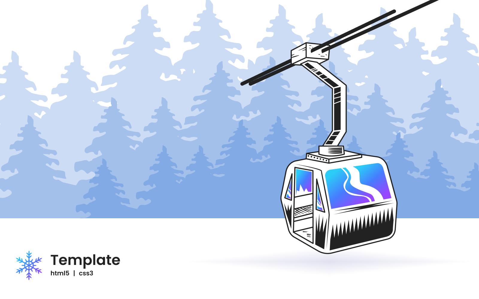 Ski-book - Ski Booking Minimal Landing Page HTML5 Website Template
