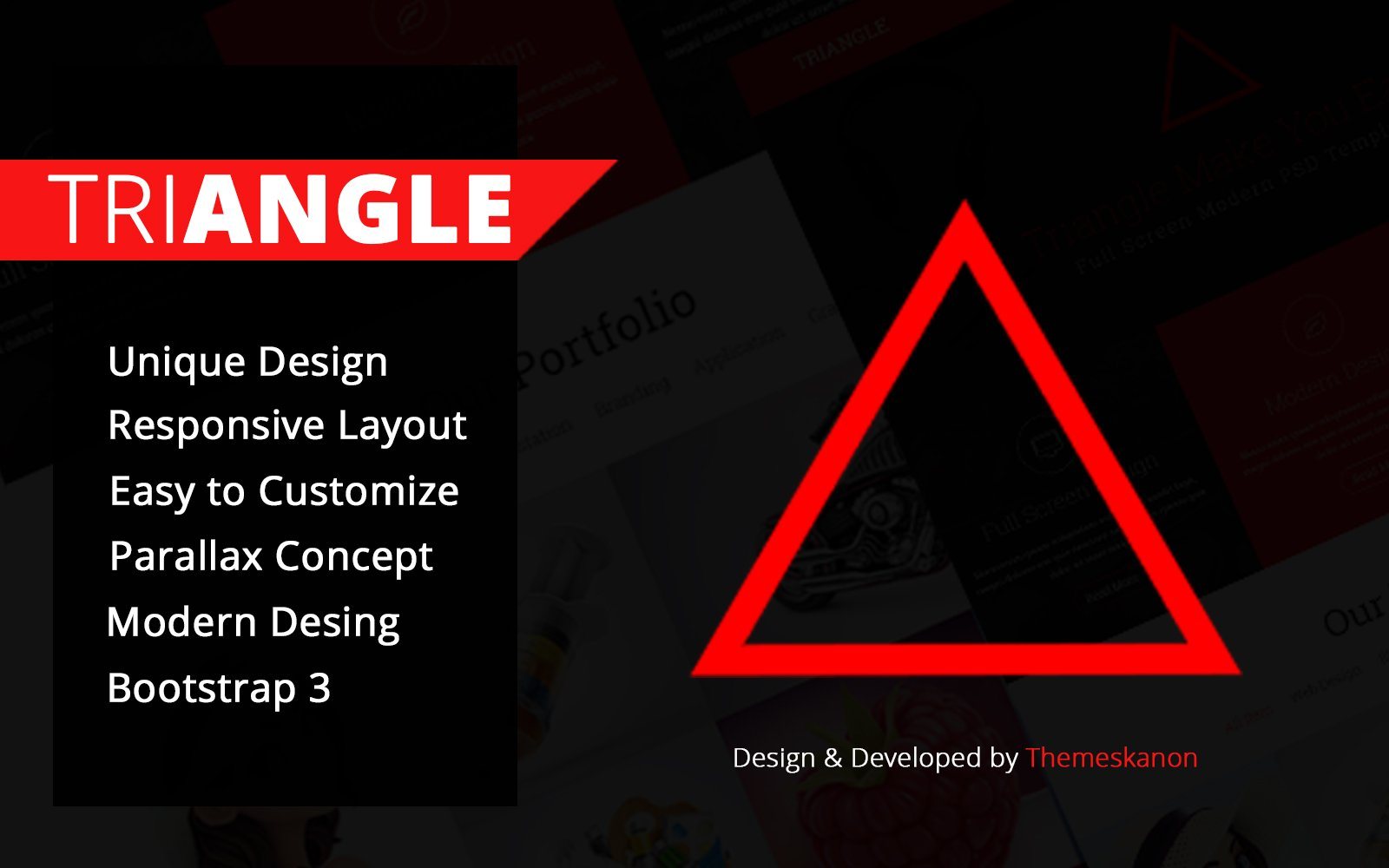 Triangle Single Page HTML Template