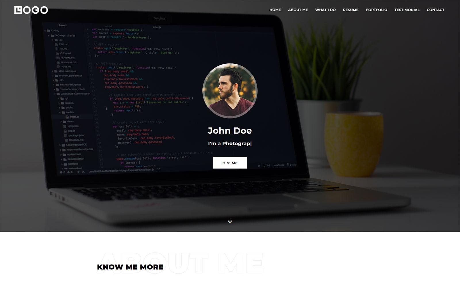 Black Bull - Personal, Portfolio, CV and Resume Website HTML Template