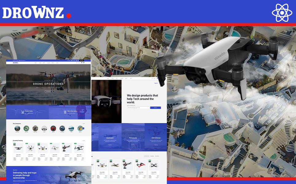 Drownz Drone Photography & Drown Shop React Js Website Template