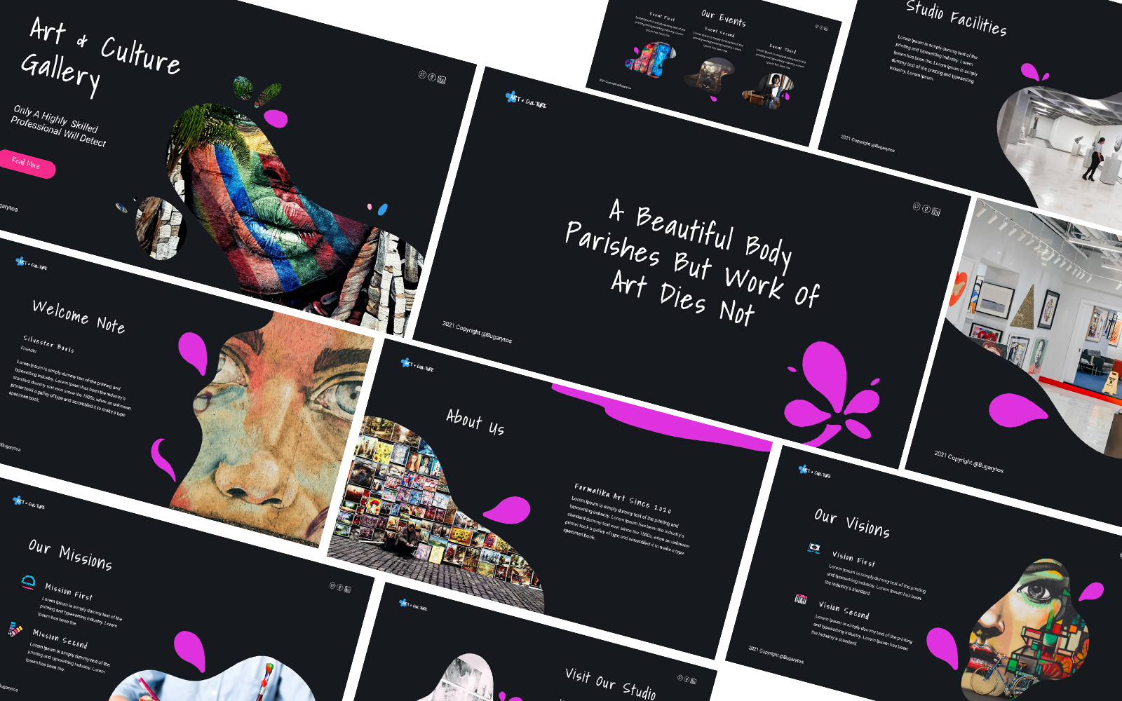 Art & Culture Gallery  Powerpoint Template