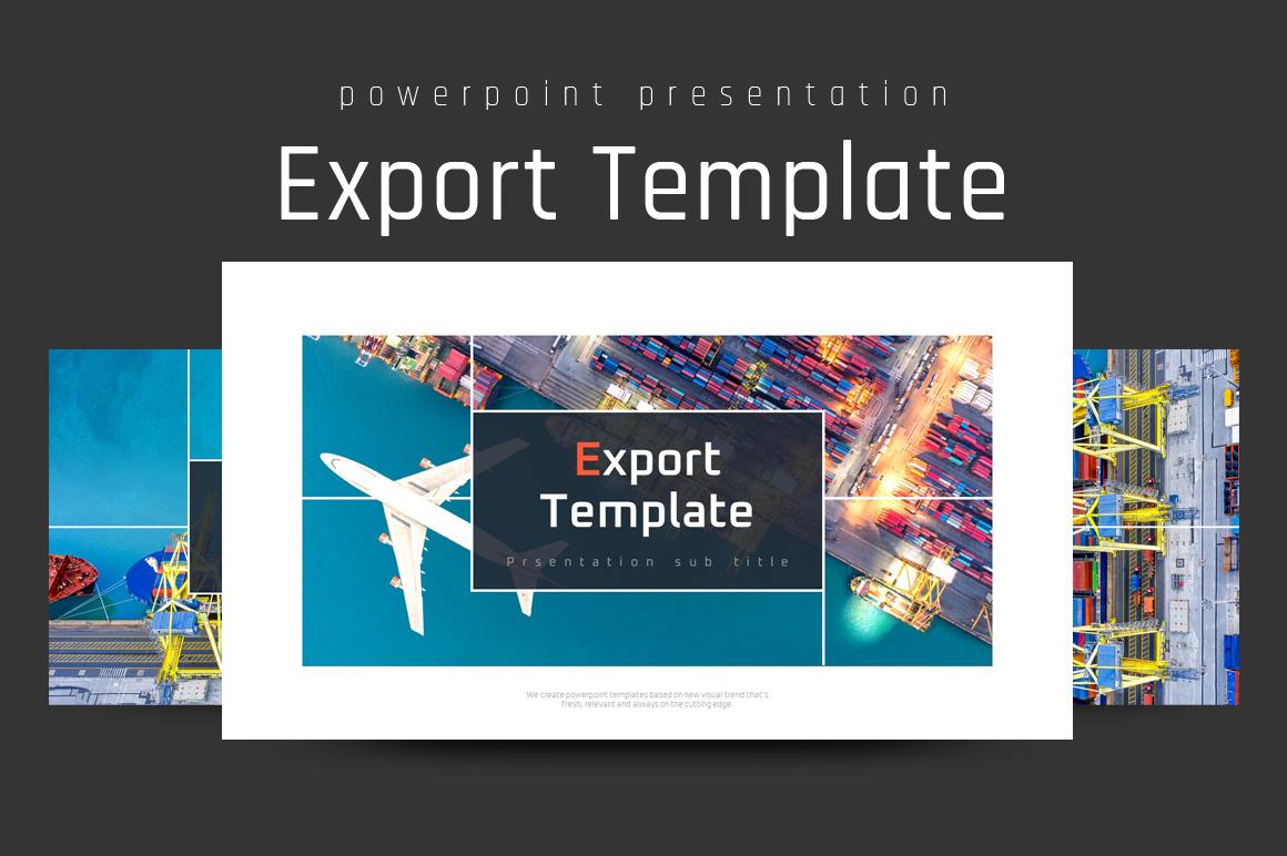 Export Presentation PowerPoint Template