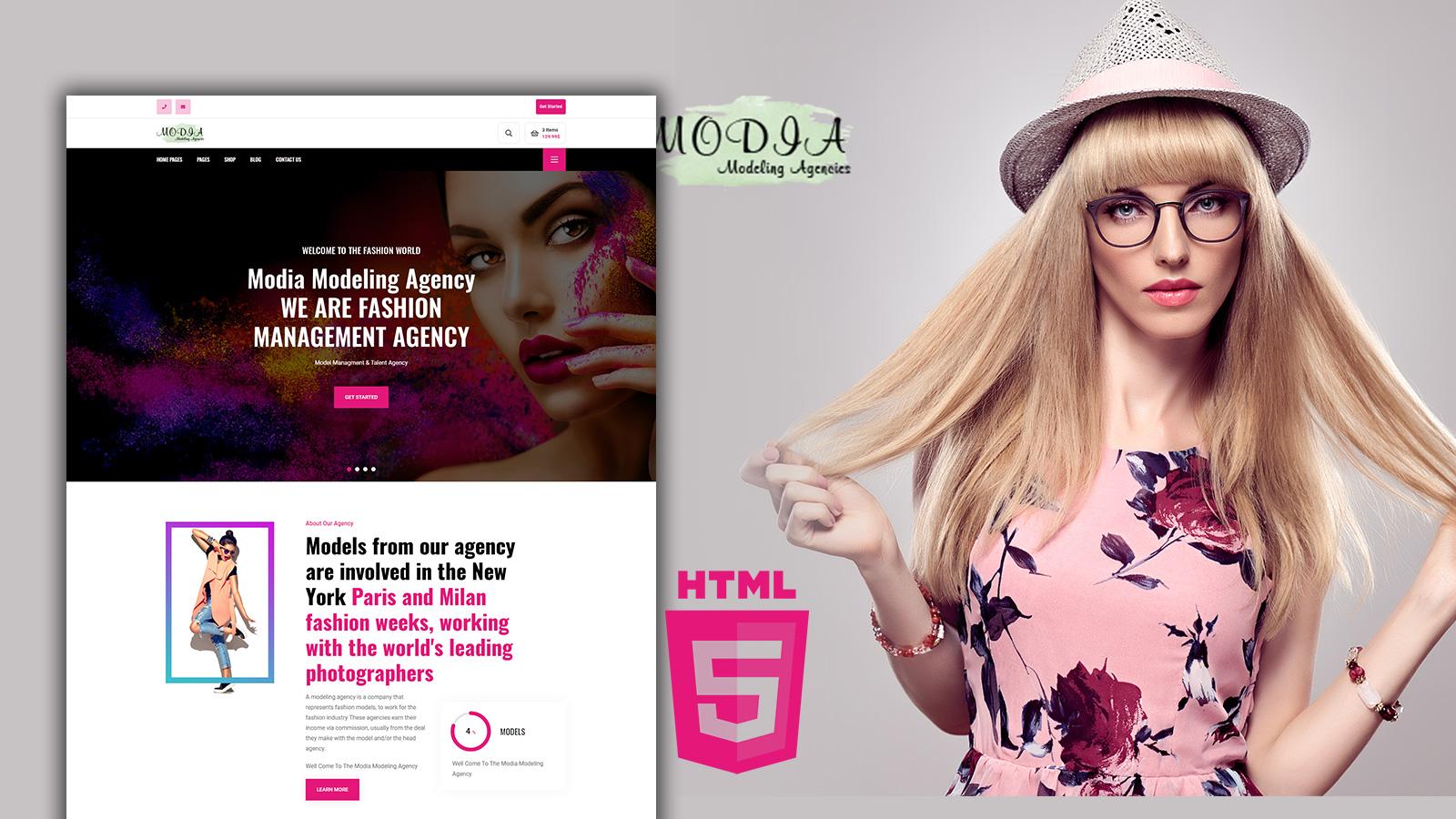 Modia - Modelling Agency HTML Website Template
