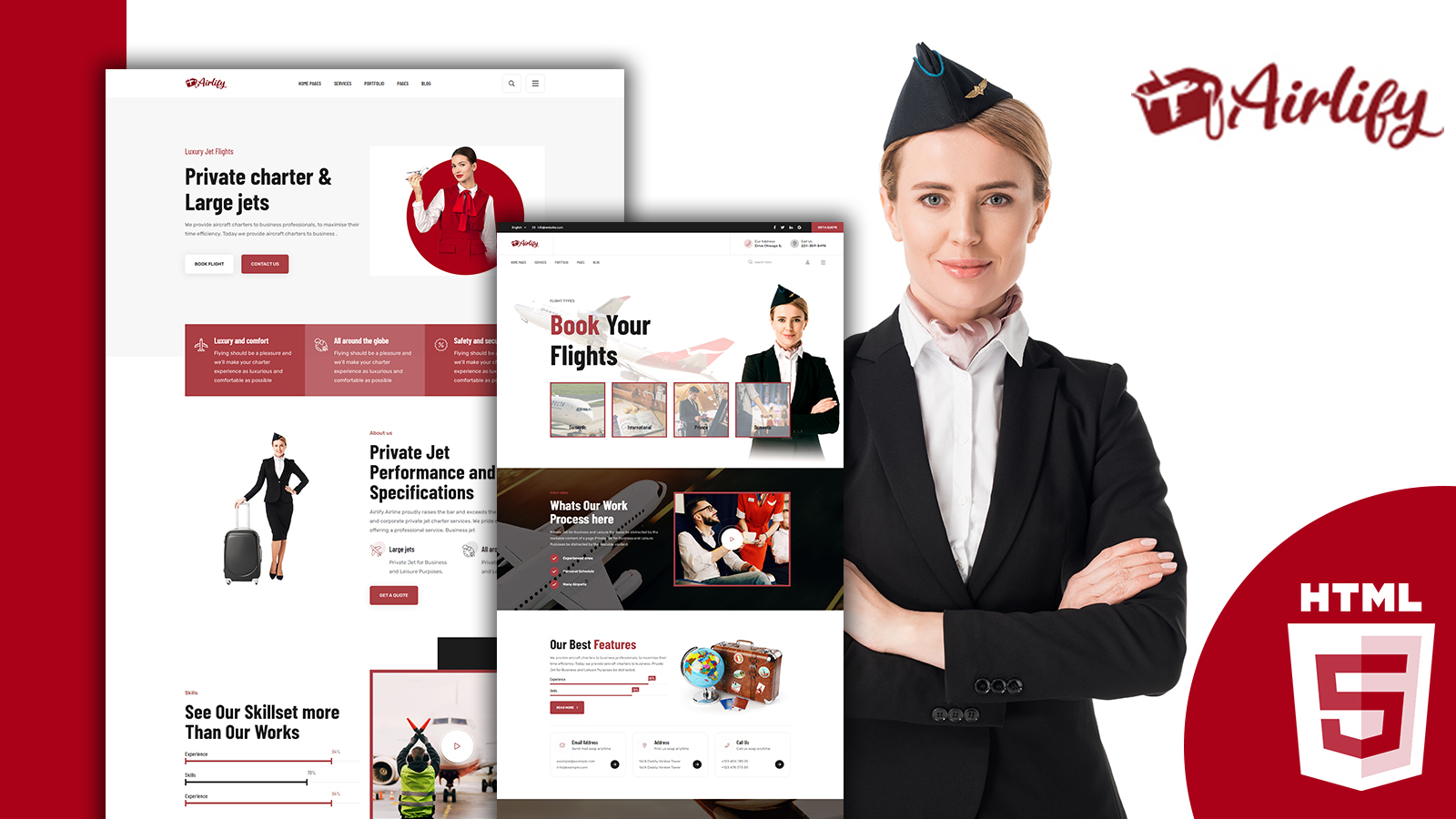 Airlify- Air Service HTML5 Website  Template