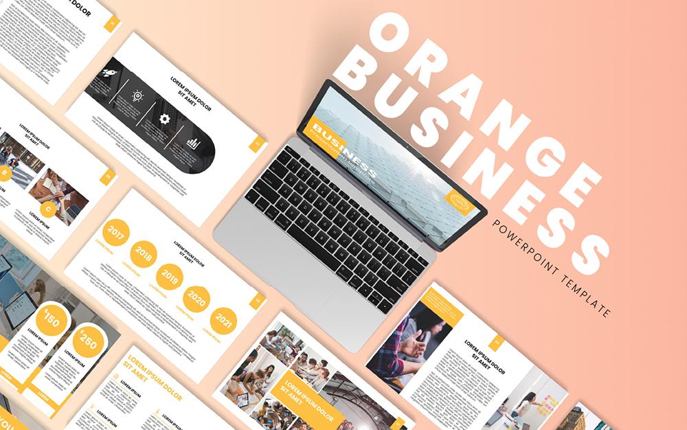 Orange Business PowerPoint Template