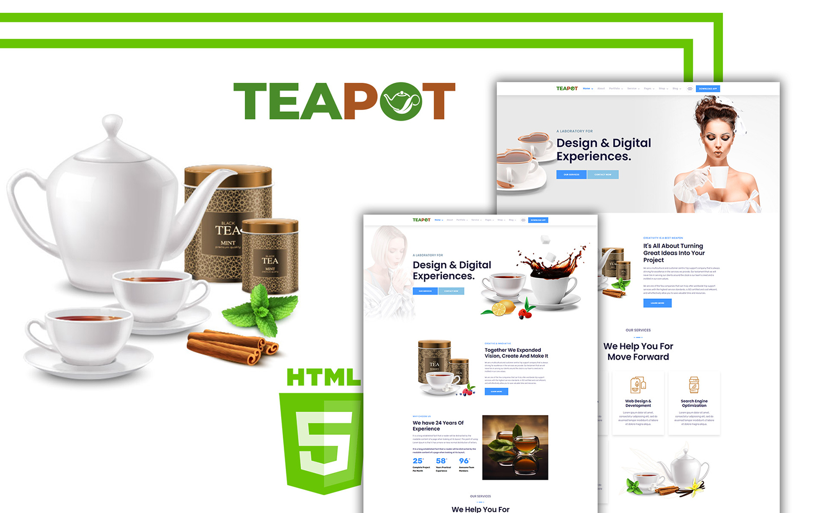 Teapoty - Tea & Herbs HTML Website Template