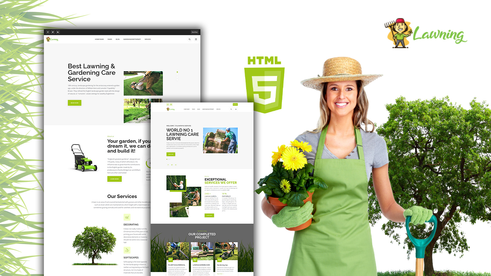 Lawning - Lawn Mowing Service HTML Template