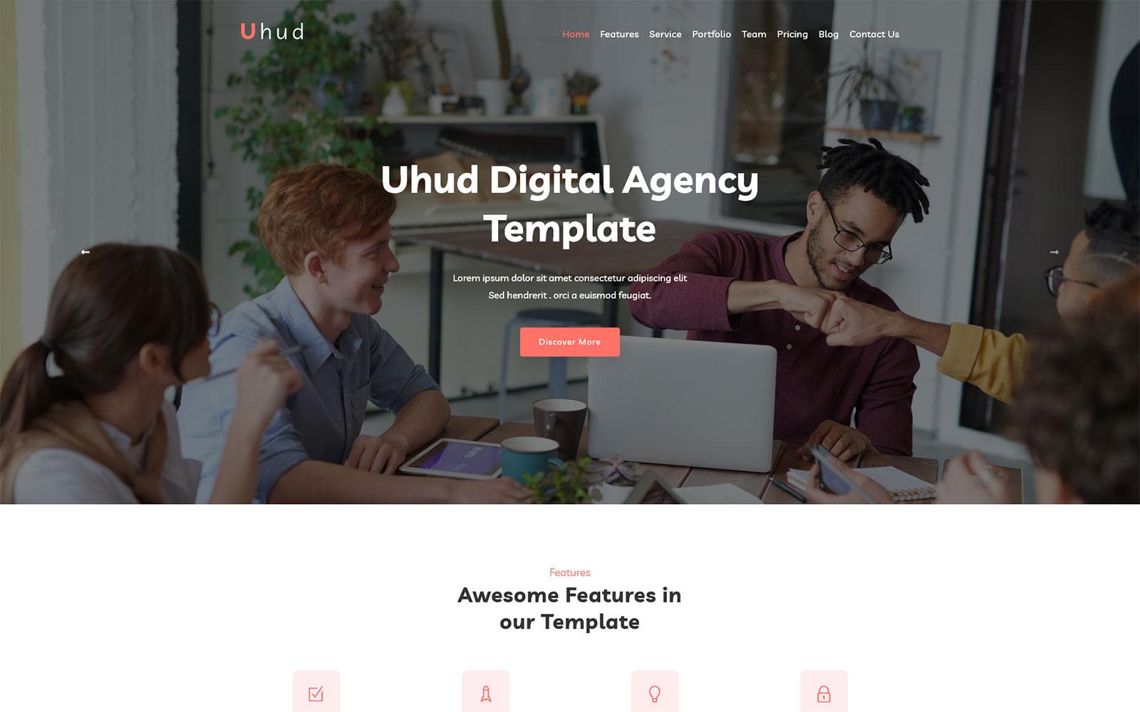 Uhud - Responsive Digital Agency WordPress Theme