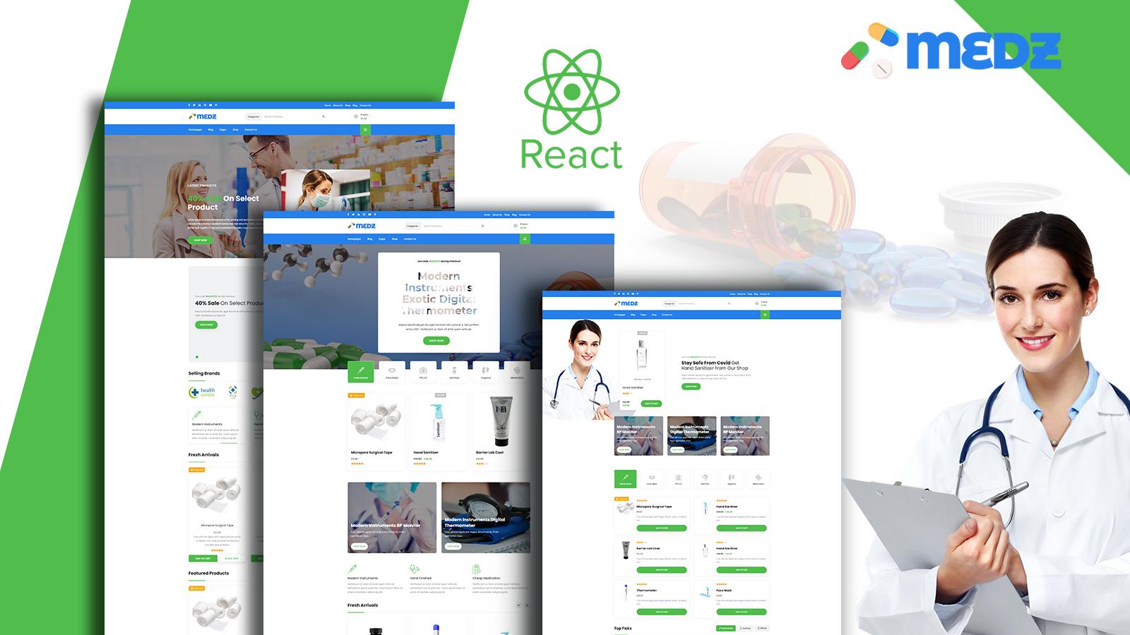 Medz - Medical Shop React Template