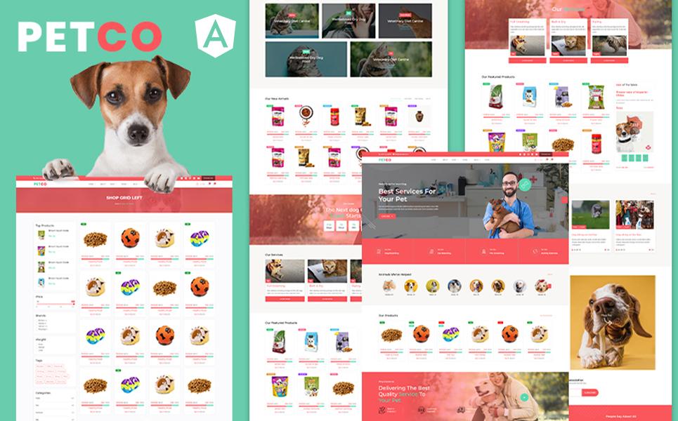 Petco | Pet Shelter & Animal Shop Angular JS Template