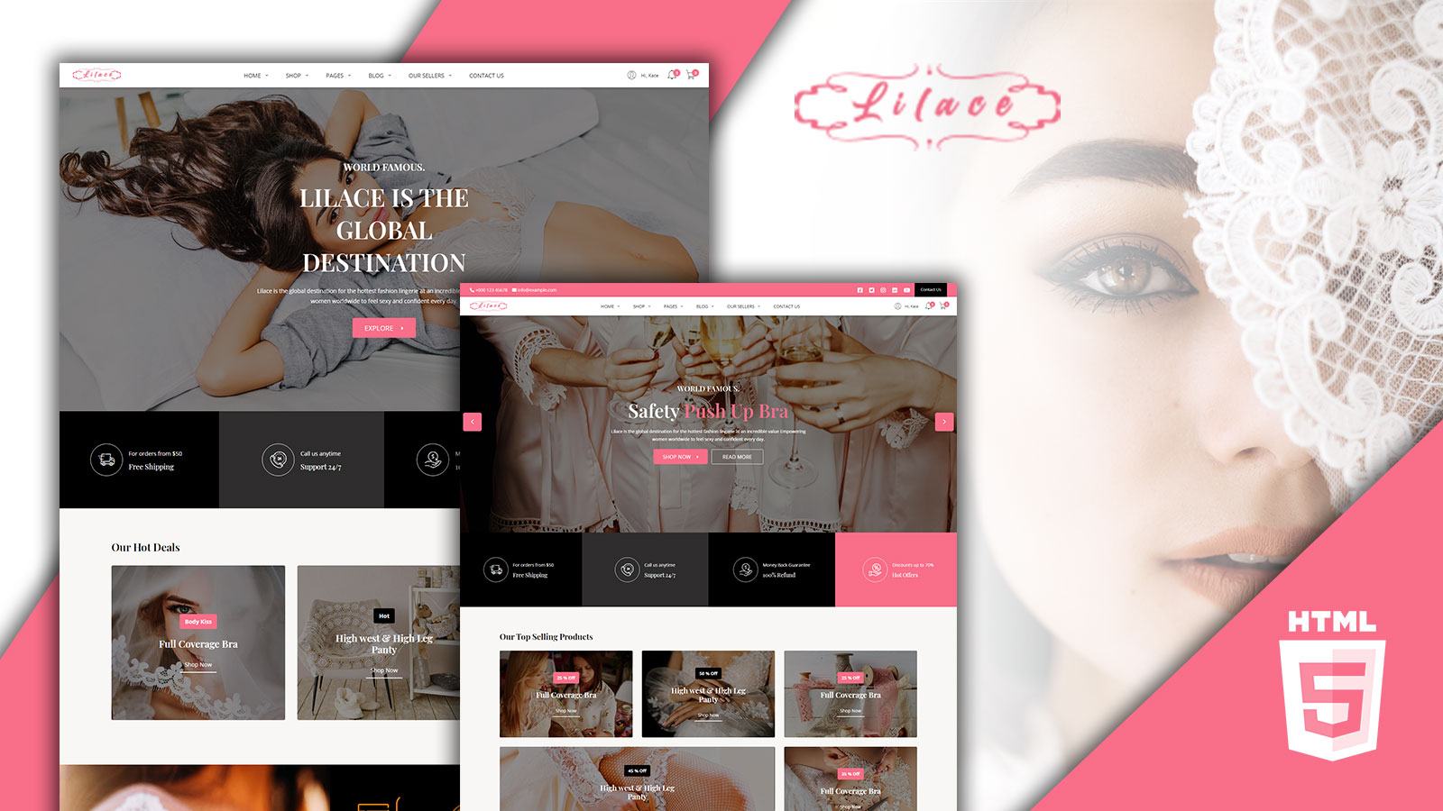 Lilace - Lingerie HTML Template