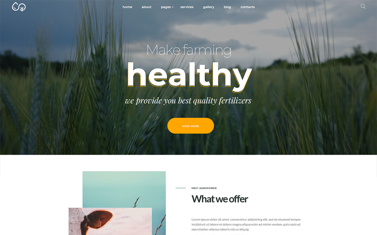 Agropower - Chemical Plant and Fertilisers Manufacturer WordPress theme
