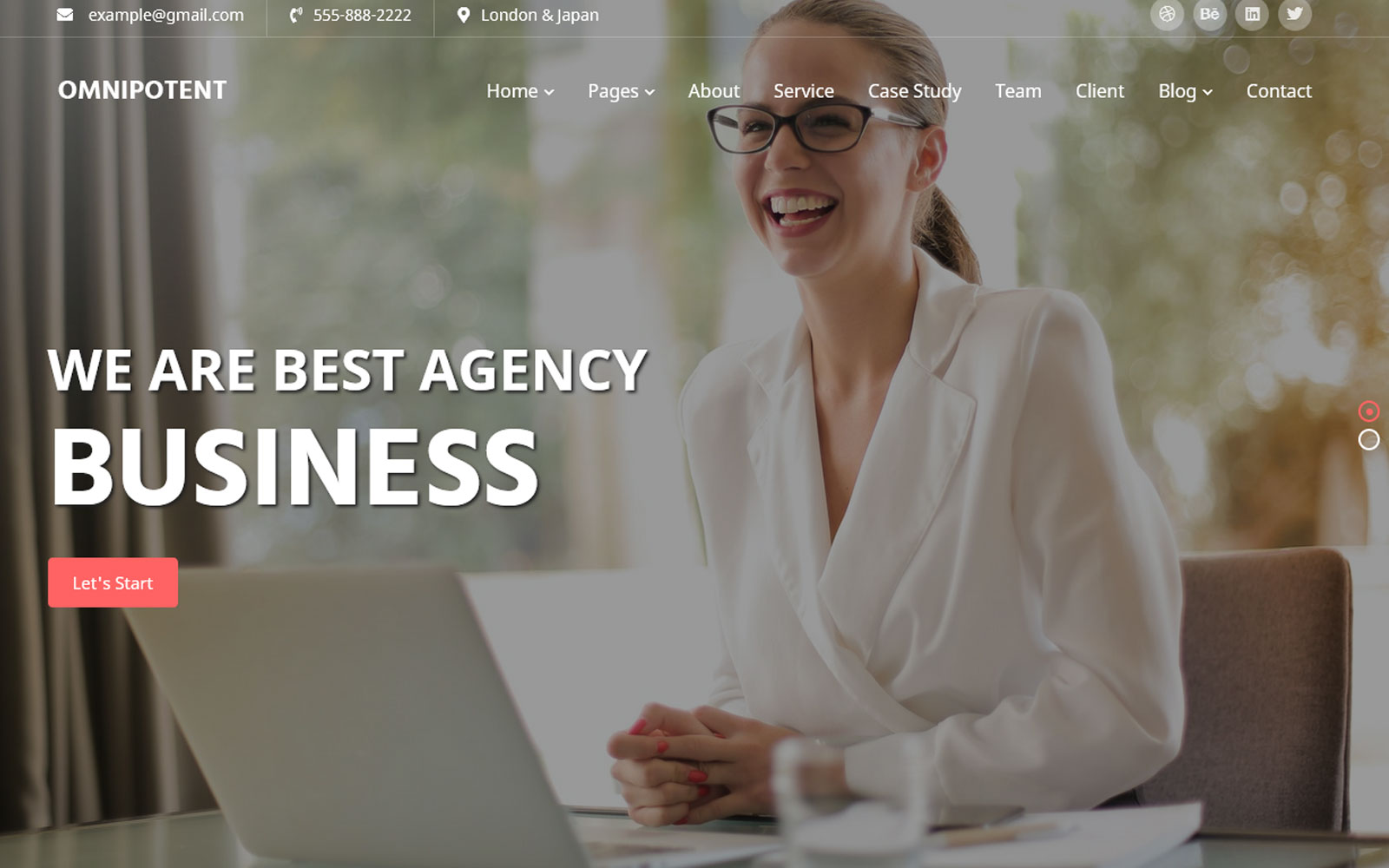 Omnipotent -Multipage Business Website Template