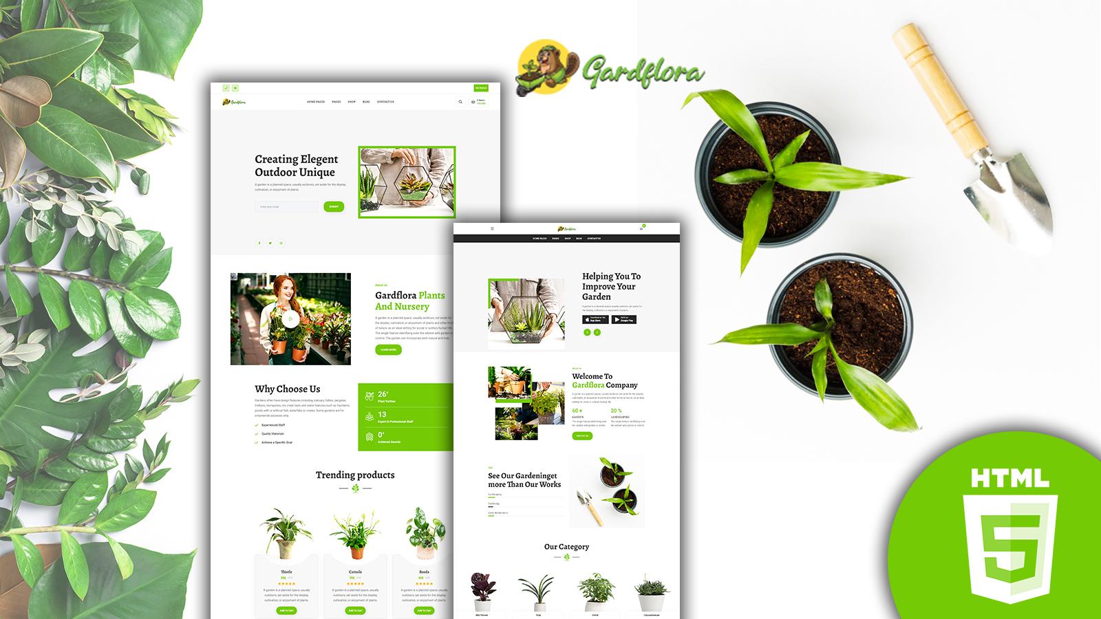 Gardflora - Gardening Services HTML Template